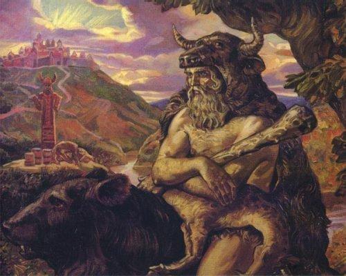 Изображение бога Велеса