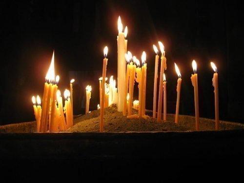 Церковные свечи для обряда очищения