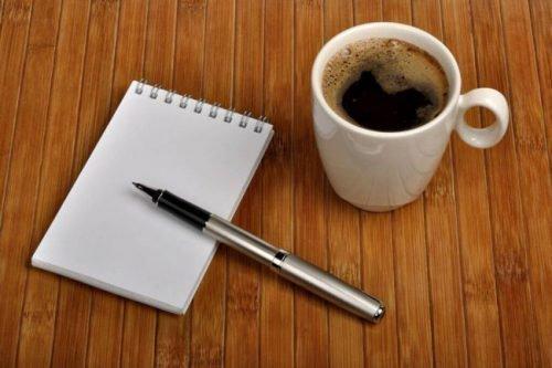 Блокнот и ручка