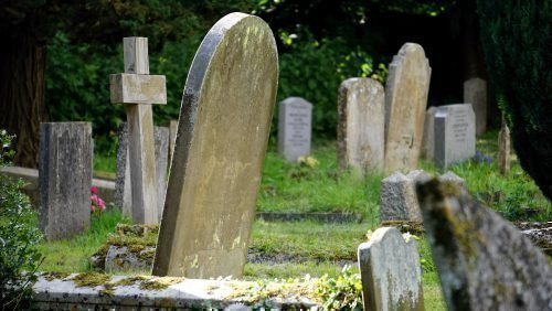 Покосившееся надгробие