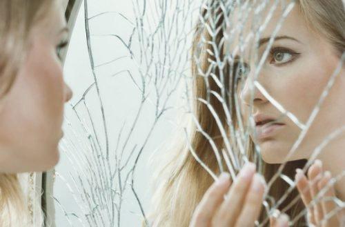 зеркало разбитое