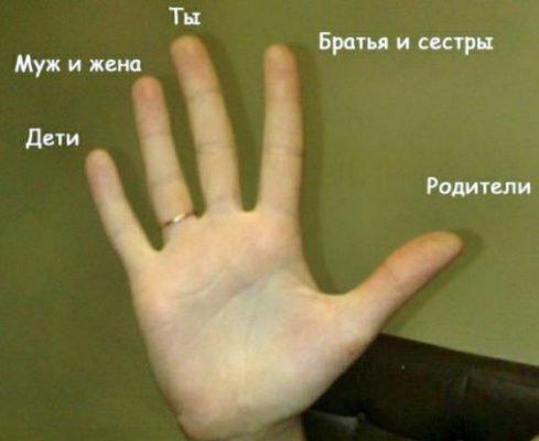пальцы хиромантия