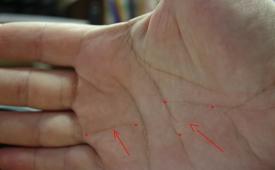 Линия на руке, отвечающая за Наследство
