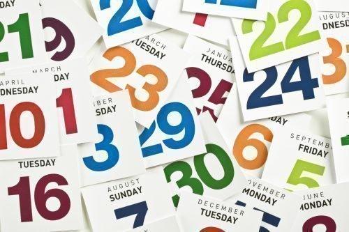 Даты на календаре