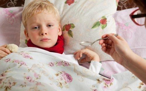 Заболевший ребенок