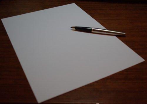 Лист и ручка для заговора