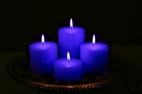 Синие свечи для ритуала привлечения удачи