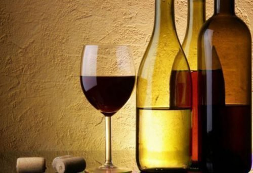 Бутылка из под вина для ритуала
