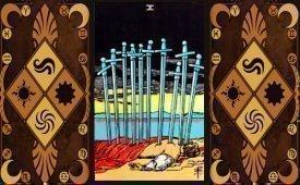 Особенности и характеристики Десятки Мечей в Таро