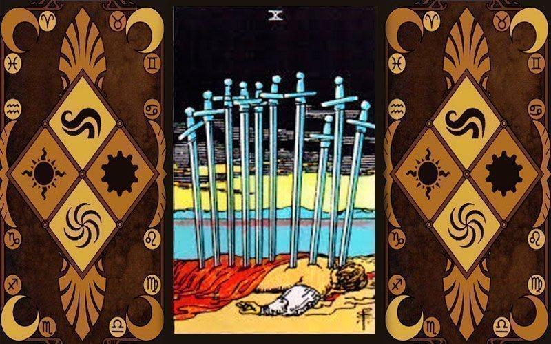 Десятка Мечей Таро в раскладах Значение 10 мечей в таро