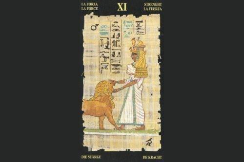 Карта Сила в Египетском Таро