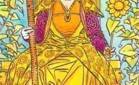 Королева Жезлов, характеристика и значение карты