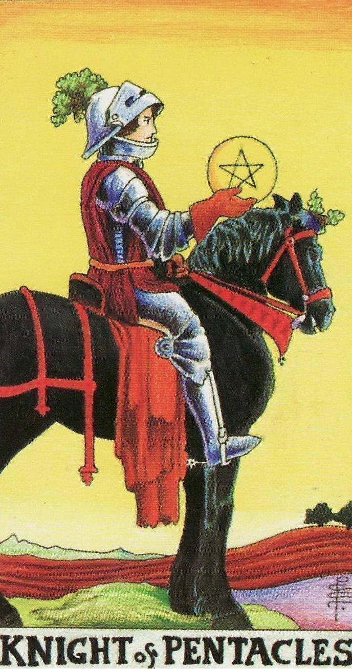 Значение Рыцарь Пентаклей Таро