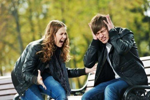 Конфликт между парнем и девушкой