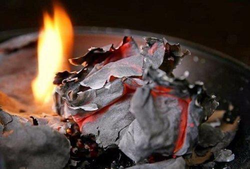 Сожженная бумага