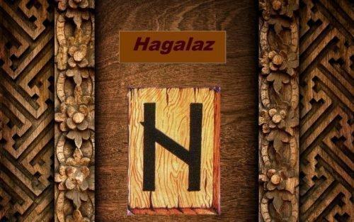 Рунический символ «Хагалаз»