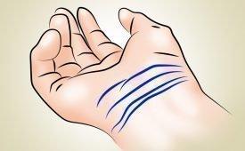 Толкование линий на запястье при гадании по руке